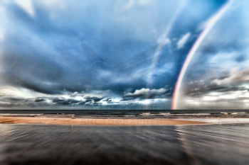 when the rainbow kissed the Baltic sea